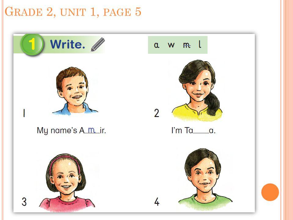 G RADE 2, UNIT 1, PAGE 5