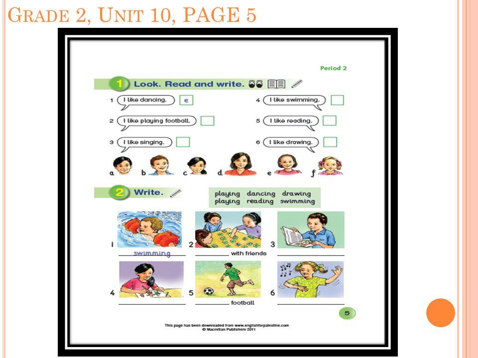 G RADE 2, U NIT 10, PAGE 5