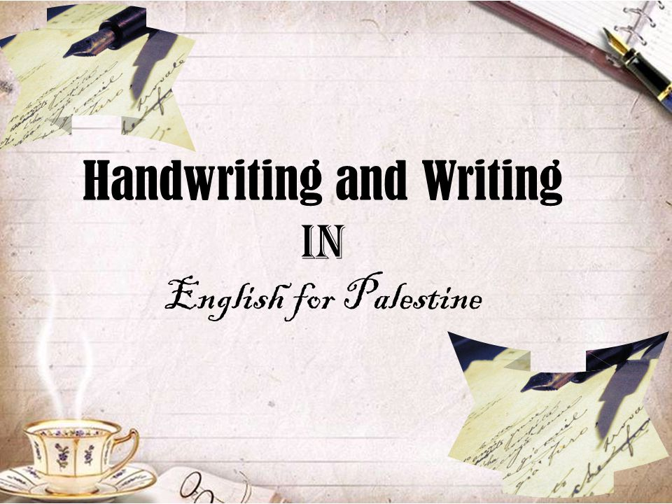 Handwriting and Writing in English for Palestine