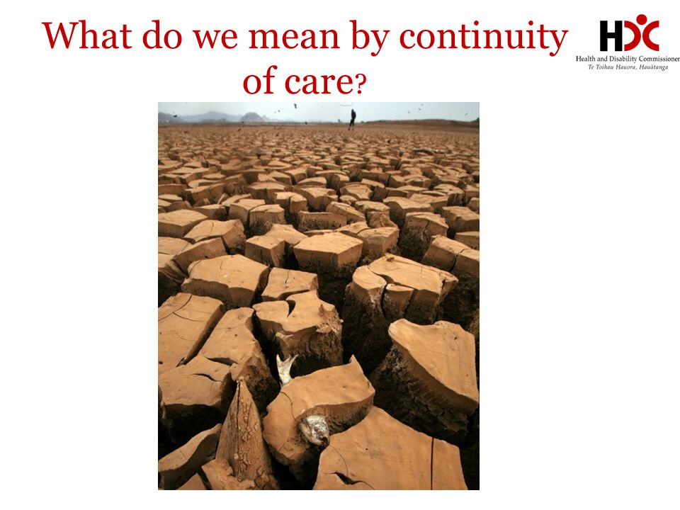 What do we mean by continuity of care ?