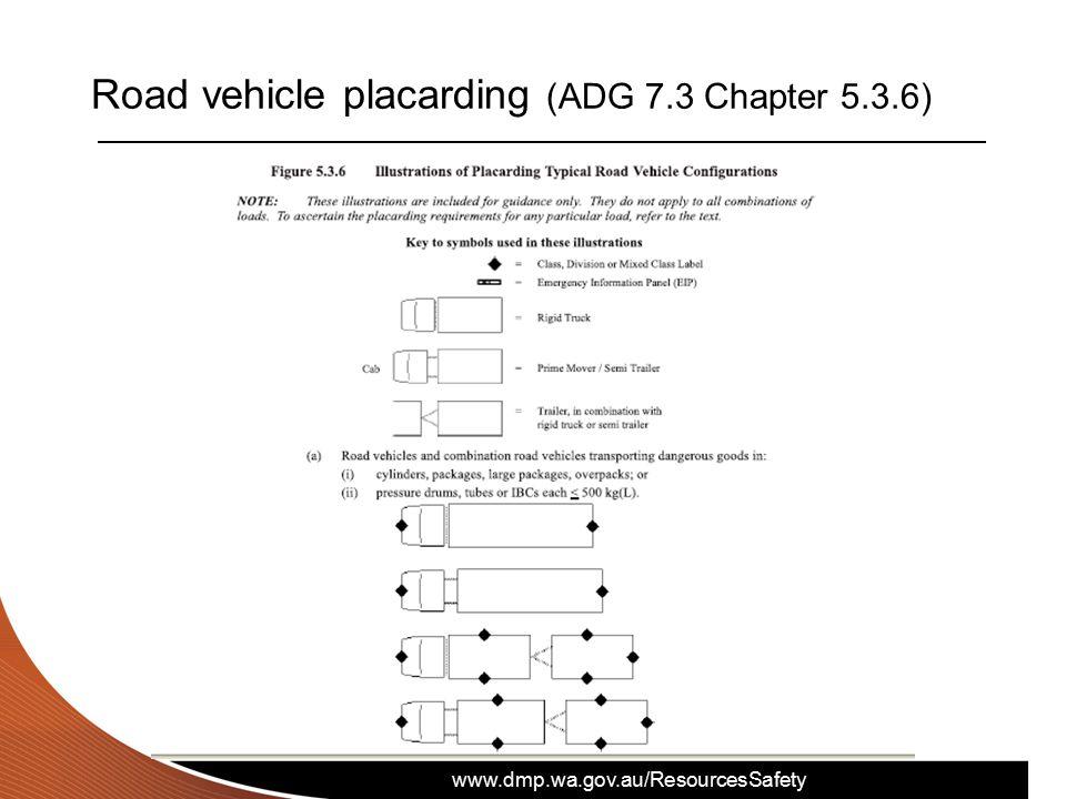www.dmp.wa.gov.au/ResourcesSafety Road vehicle placarding (ADG 7.3 Chapter 5.3.6)