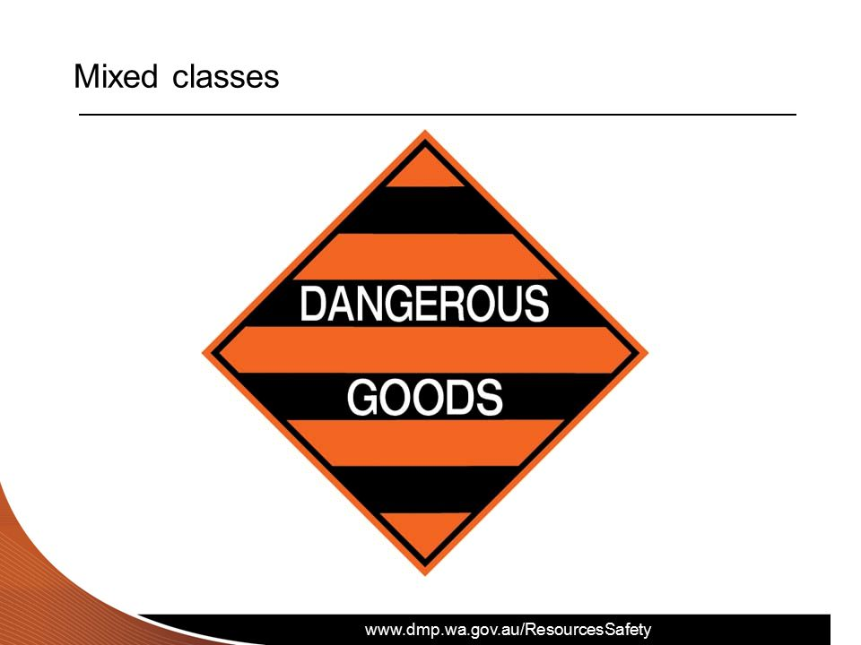 www.dmp.wa.gov.au/ResourcesSafety Mixed classes