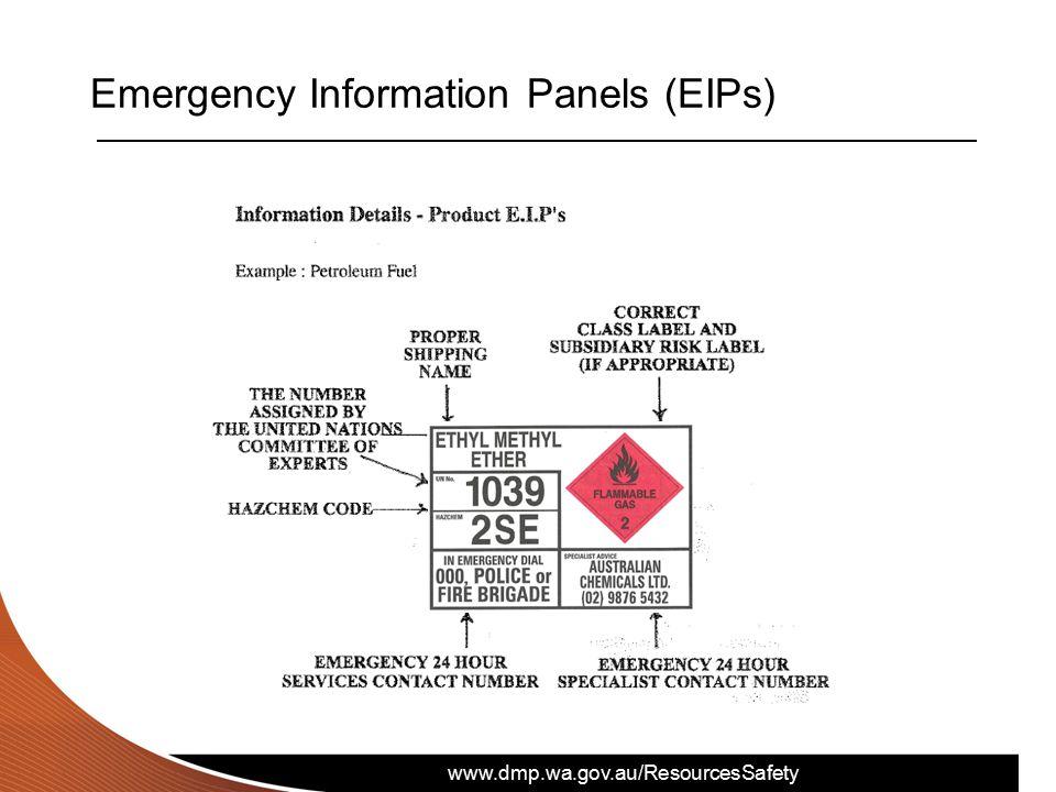 www.dmp.wa.gov.au/ResourcesSafety Emergency Information Panels (EIPs)