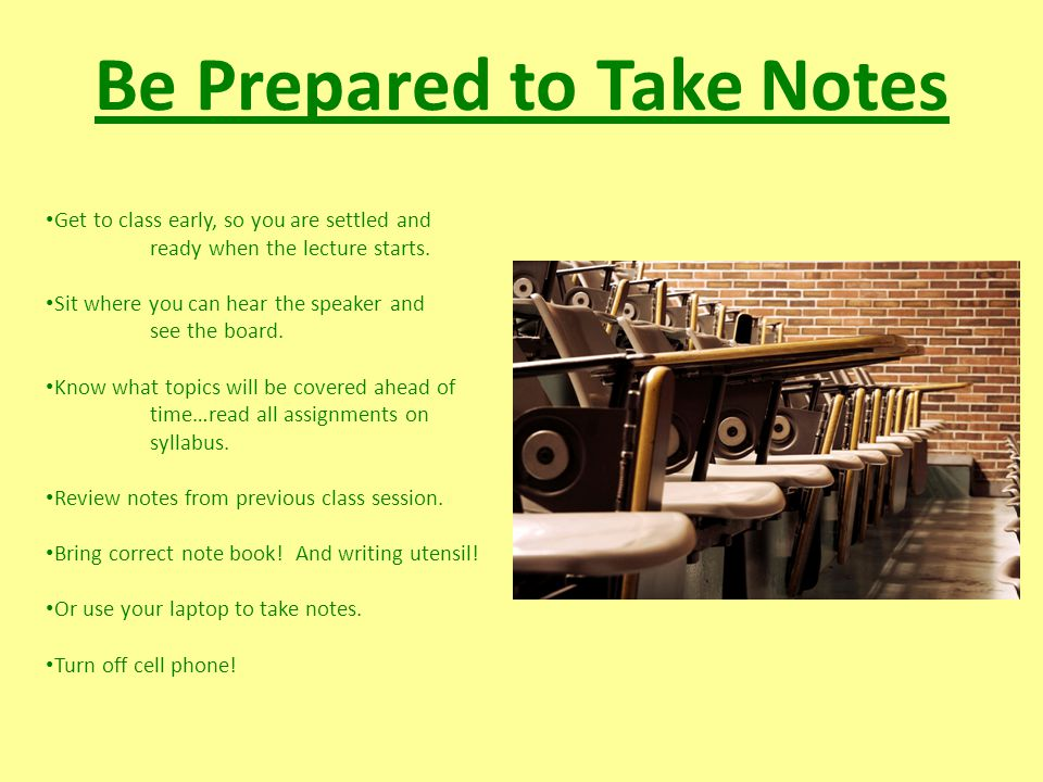Know Your Instructor's Style Does your instructor… Lecture on text page by page.