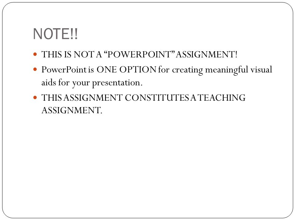 Strong PowerPoint - TEXT Very little on a slide and it's all relevant and legible.