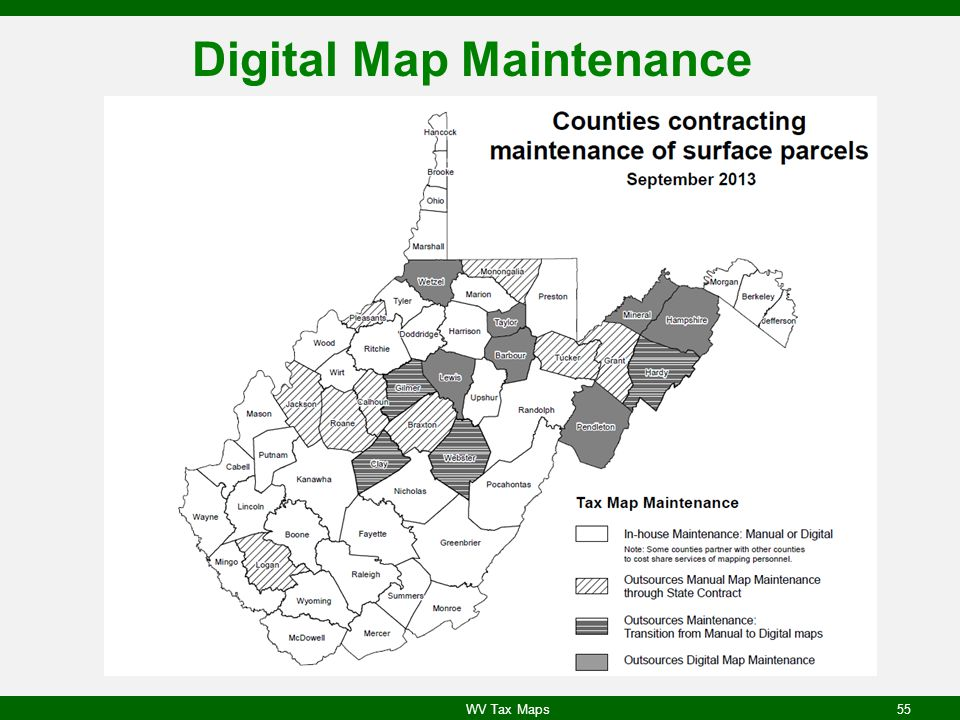 Digital Map Maintenance WV Tax Maps55