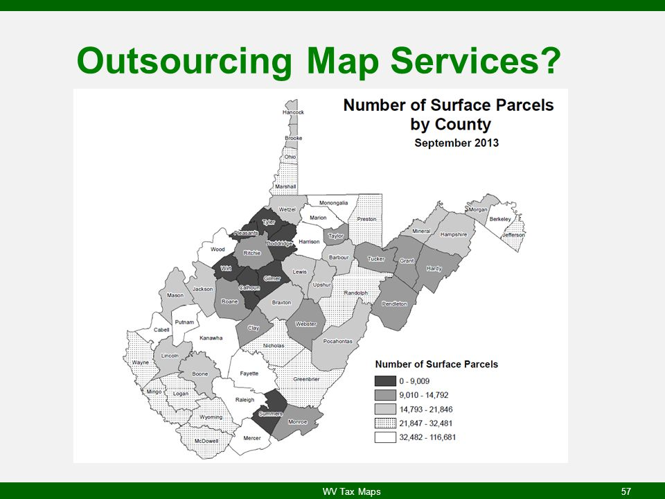 Outsourcing Map Services? WV Tax Maps57