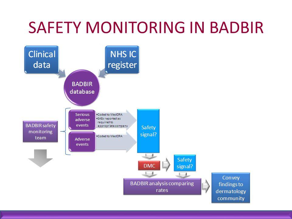 SAFETY MONITORING IN BADBIR