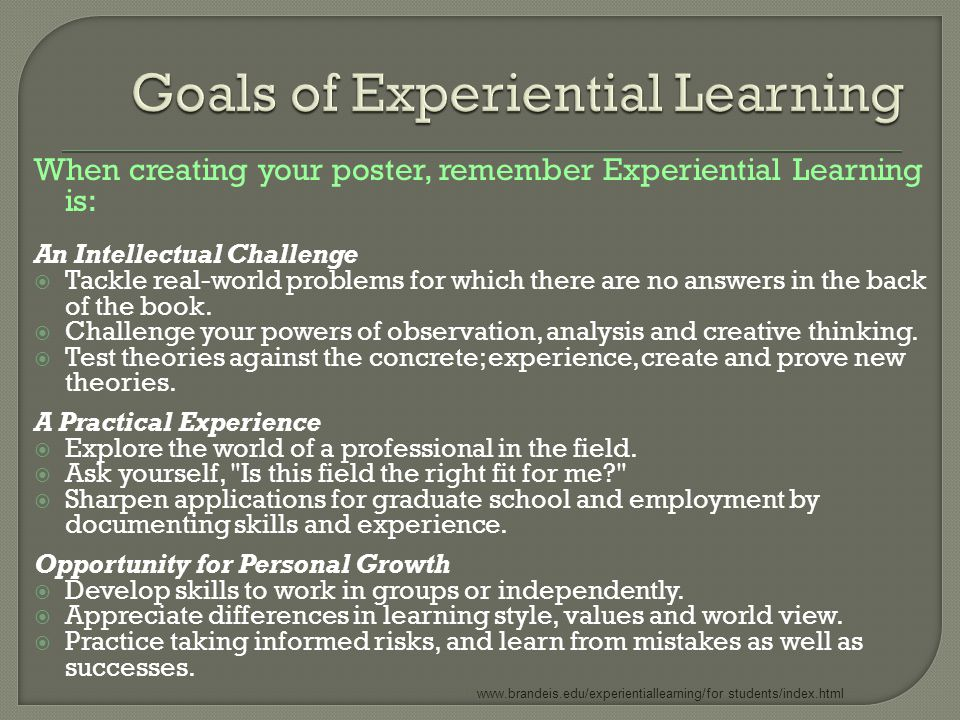  Personalized Titles  Methods  Outcomes  Research Topic/ Problem  Organization/Lab  Challenges  Successes  Lessons Learned  Highlights of the Experience  Next Steps… where is this taking you.