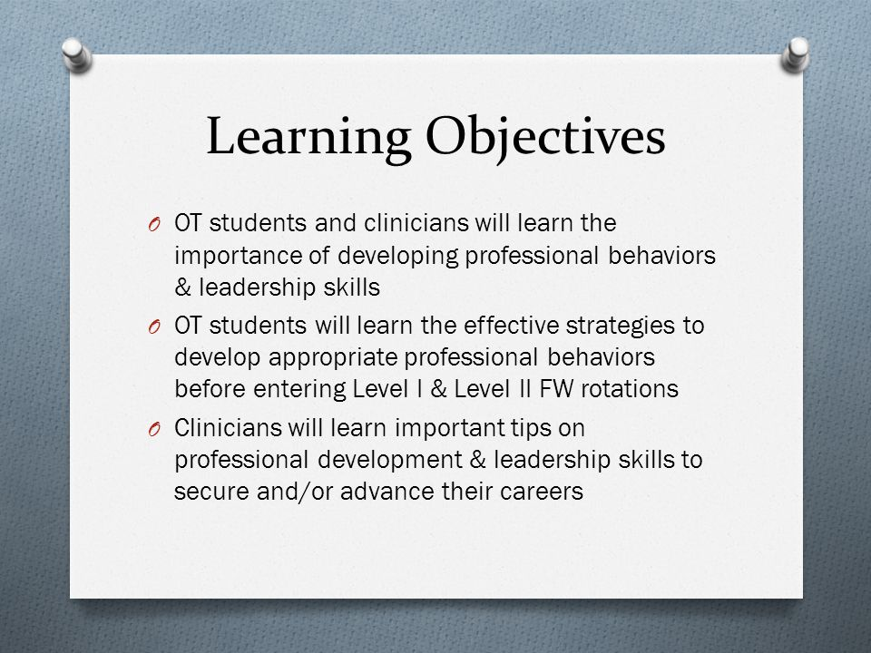 2 Learning Objectives .