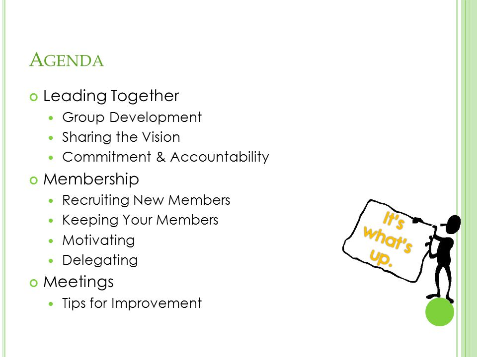 Leading Together: Group Development Sharing the Vision Commitment & Accountability