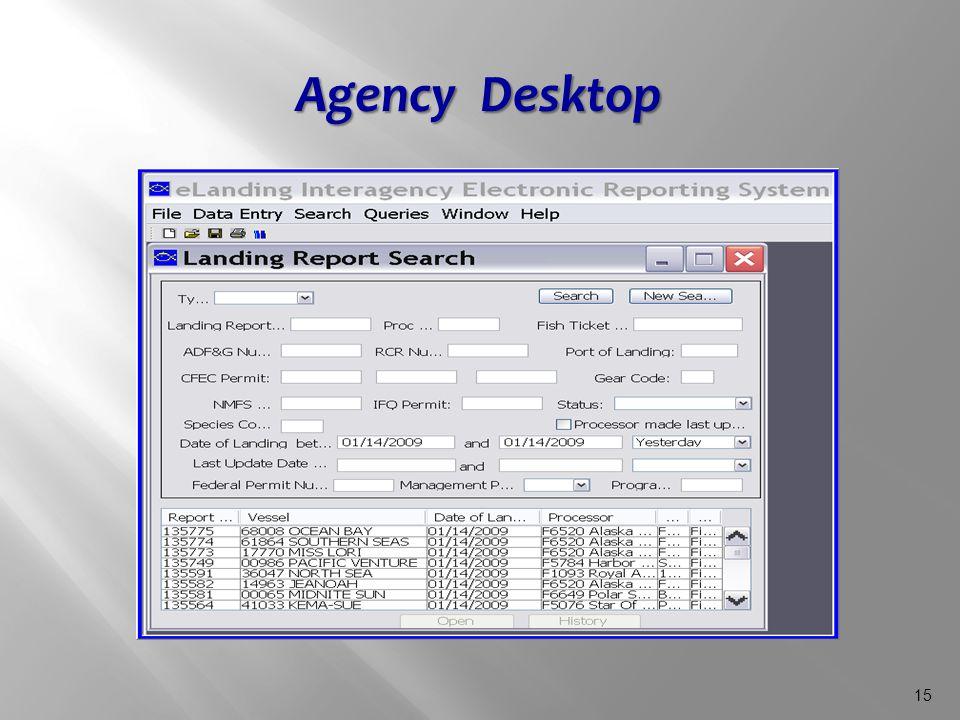 15 Agency Desktop