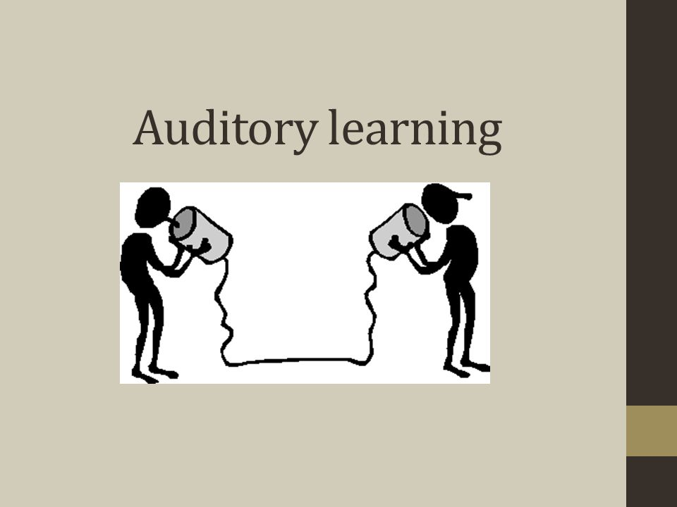 Auditory learning