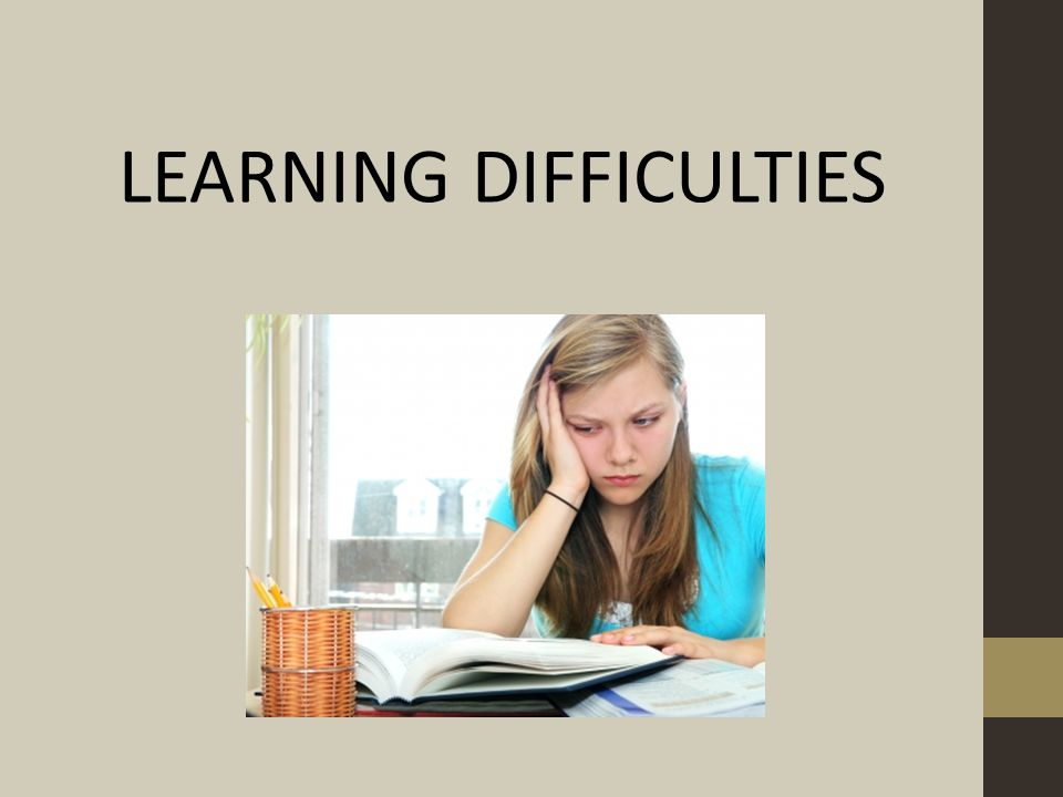 LEARNING DIFFICULTIES