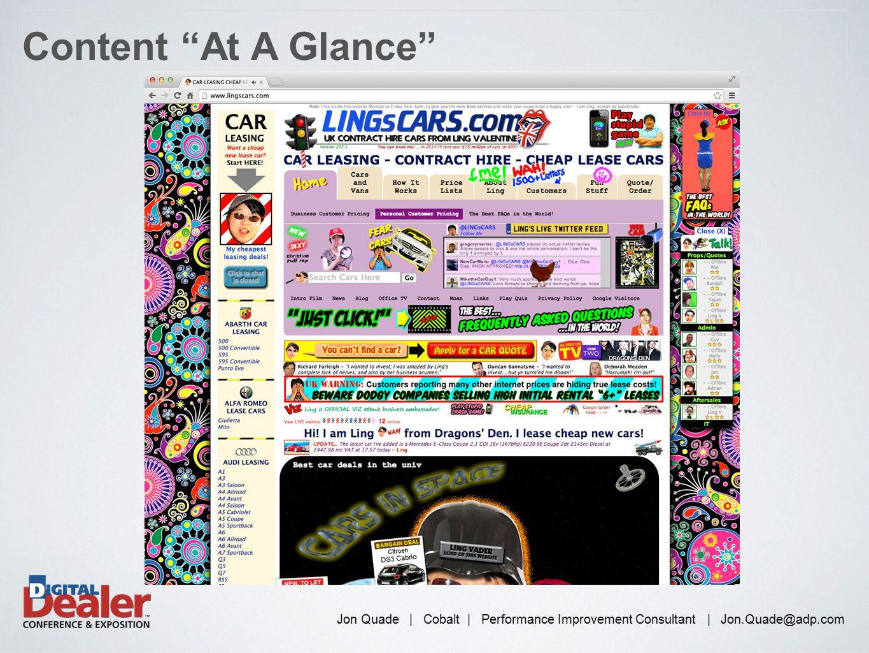 "Jon Quade | Cobalt | Performance Improvement Consultant | Jon.Quade@adp.com Content ""At A Glance"""