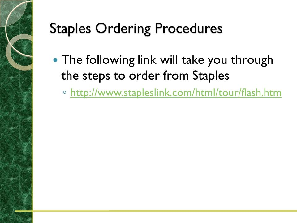 Staples Account Setup The Principle Investigator for the account will have to initiate authorization for any users they want to have access to their accounts.