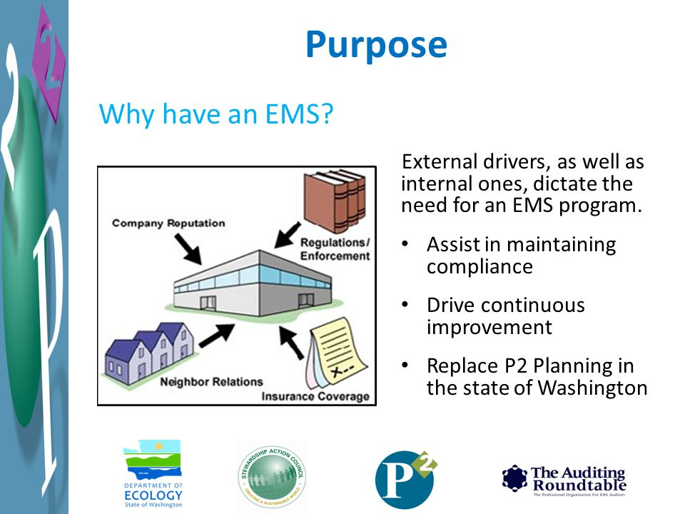 External drivers, as well as internal ones, dictate the need for an EMS program.
