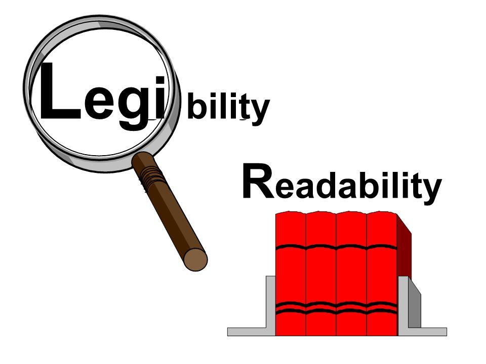 L egibility R eadability