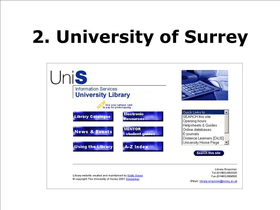 2. University of Surrey