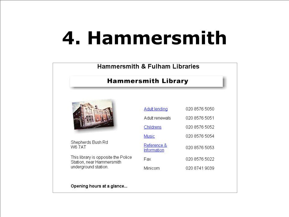 4. Hammersmith
