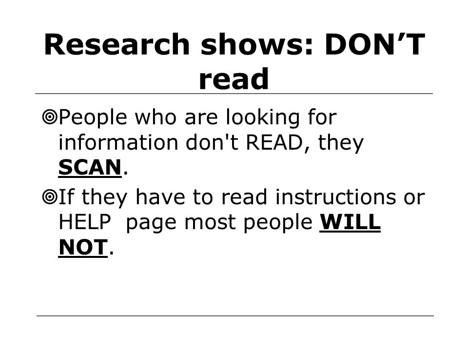 What if they really need to read. What should you do.