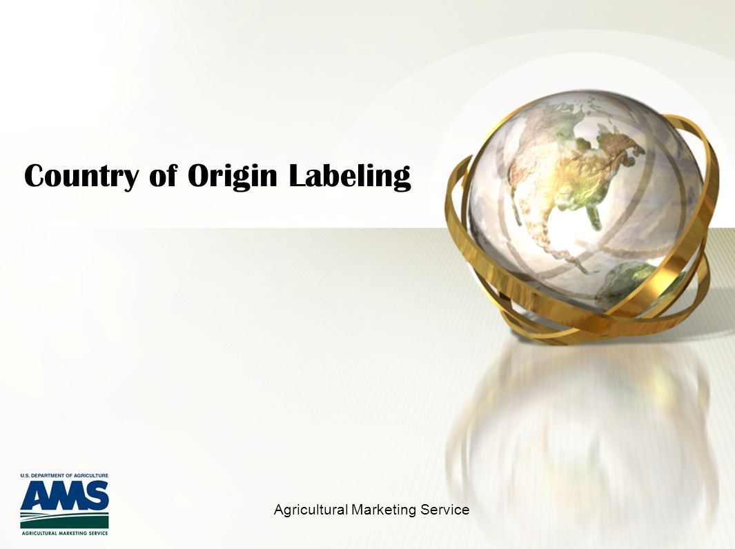 Country of Origin Labeling Agricultural Marketing Service