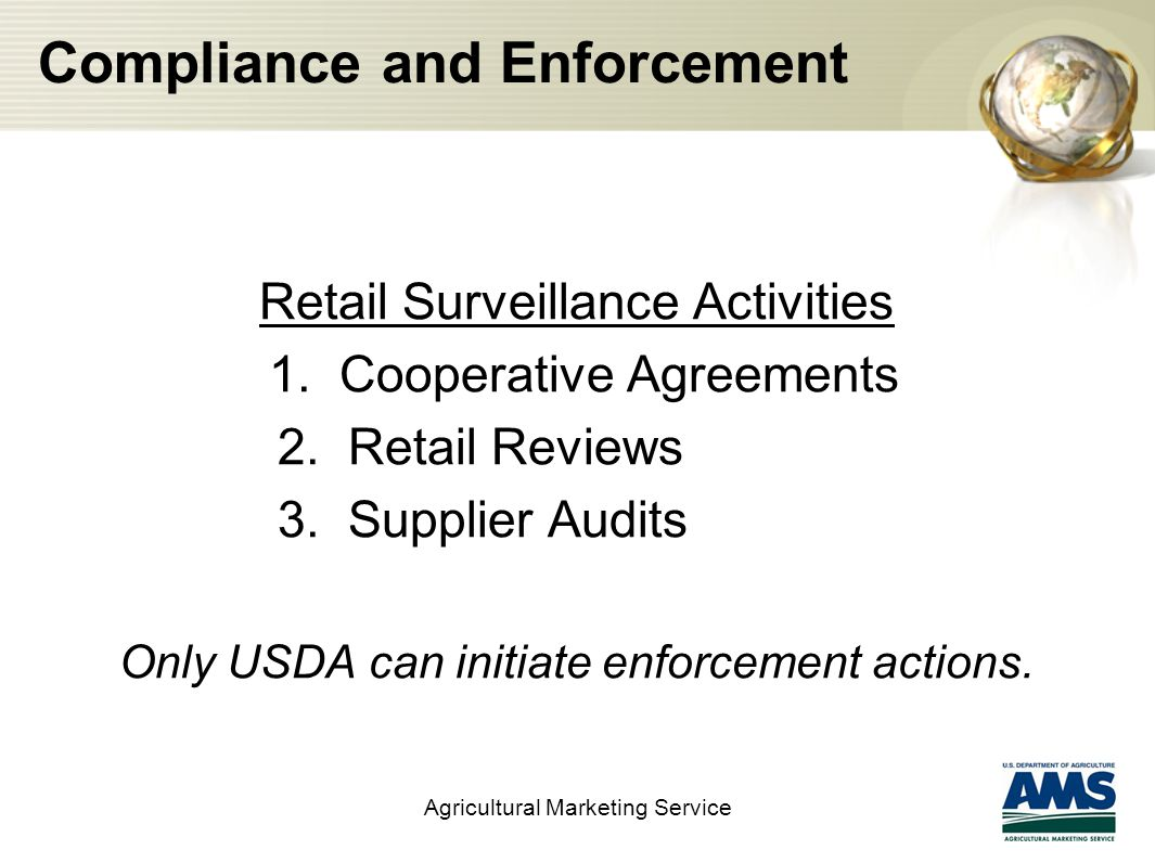 Compliance and Enforcement Retail Surveillance Activities 1.