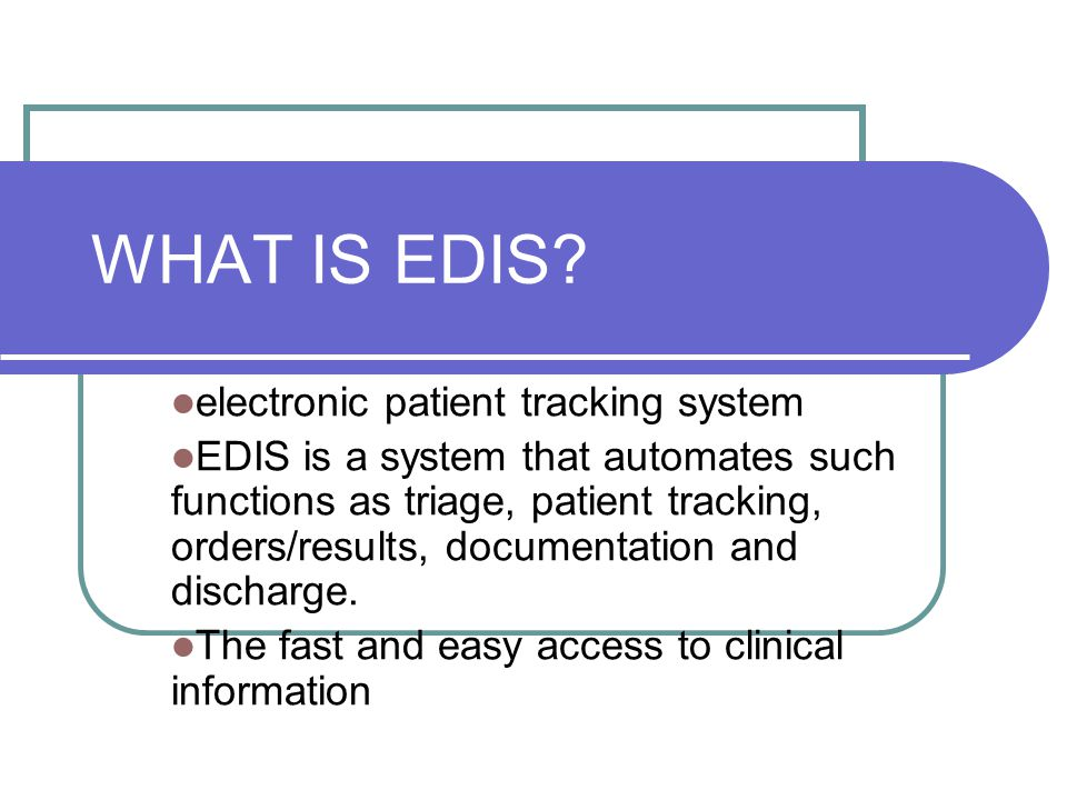 The Future of Health Care ER Task Force & CAEP recognize EDIS Technology is a key goal in 10-year plan for health care renewal Technology is being introduced across Canada – all are working towards the electronic record Calgary Health introduced EPR Saskatoon Health, Atlantic Health in process of introducing EDIS & EPR Vancouver has implemented EPR