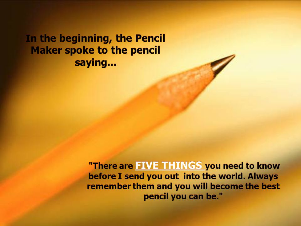 5 IMPORTANT LIFE LESSONS from a PENCIL