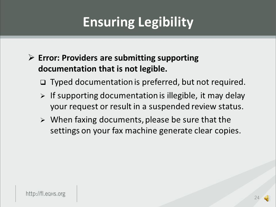  Error: When responding to requests for additional information, providers are reusing the original fax cover sheets used to submit the ordering provi