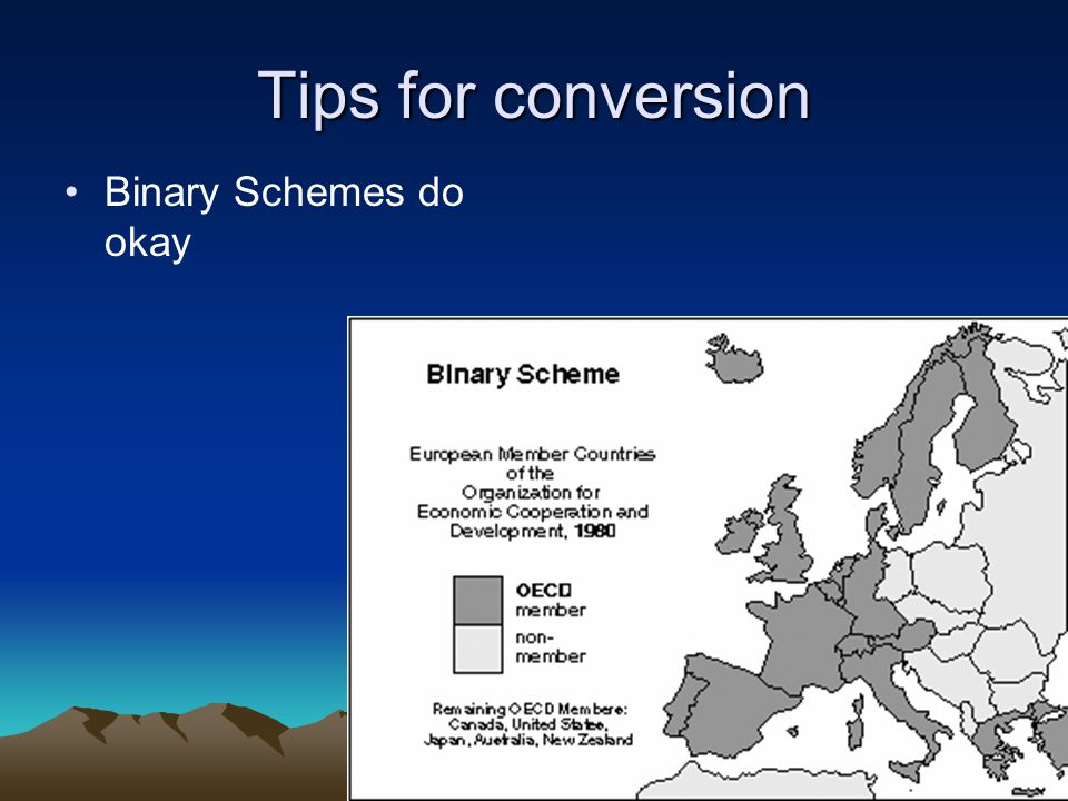 Tips for conversion Binary Schemes do okay