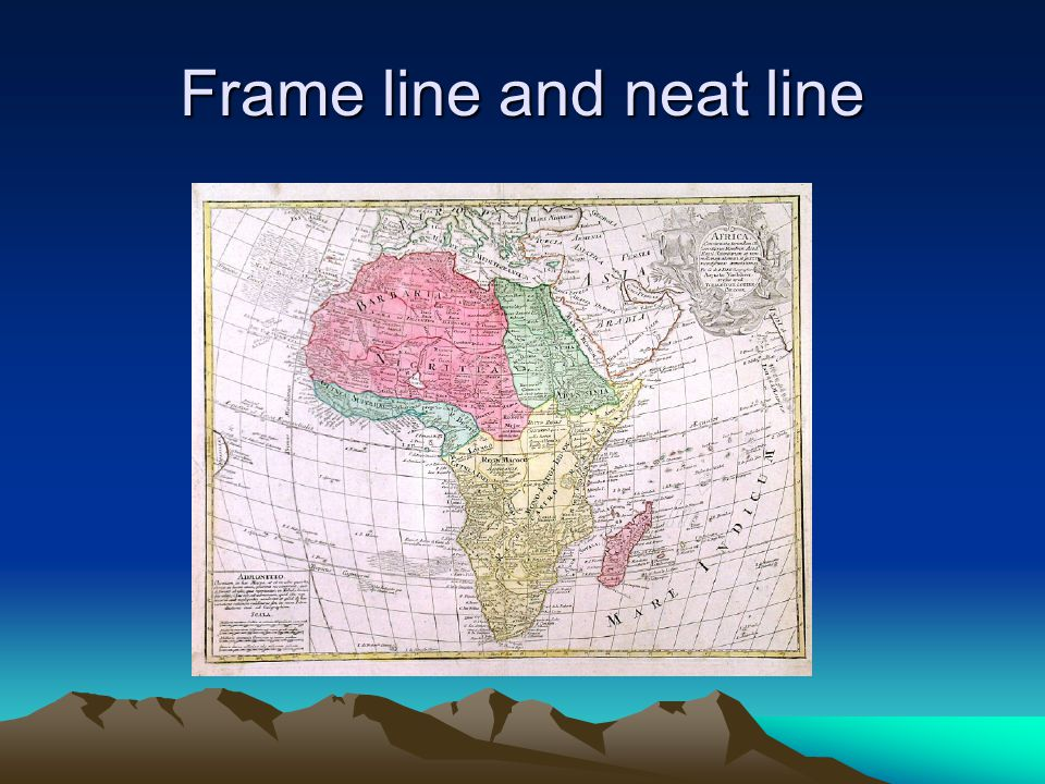 Frame line and neat line