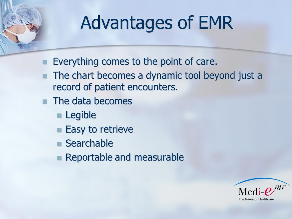 Wrap up It is not a matter of if , it's a matter of when It is not a matter of if , it's a matter of when Exception: retiring from practice in next 5 years Exception: retiring from practice in next 5 years CMS encouraging practices to move to EMR CMS encouraging practices to move to EMR