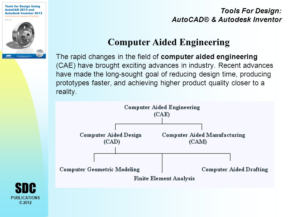 Tools For Design: AutoCAD® & Autodesk Inventor SDC PUBLICATIONS © 2012 Computer Aided Engineering The rapid changes in the field of computer aided eng