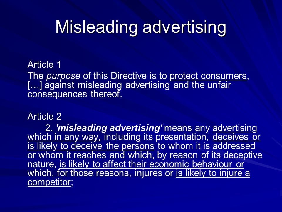 Television advertising Sponsorship (Article 17)  Sponsors shall not influence the content nor the scheduling of the programme.