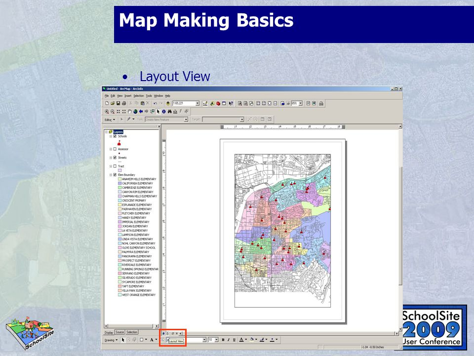 Map Making Basics Layout View