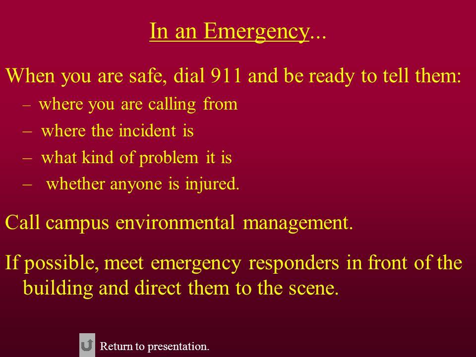 In an Emergency...
