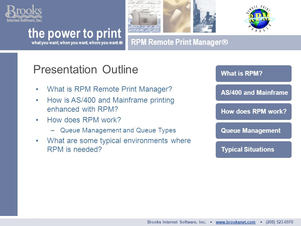 What is RPM Remote Print Manager. How is AS/400 and Mainframe printing enhanced with RPM.