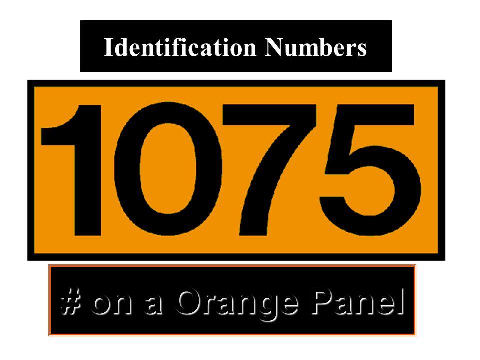 # on a Orange Panel Identification Numbers