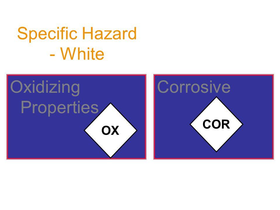 CorrosiveOxidizing Properties Specific Hazard - White OX COR