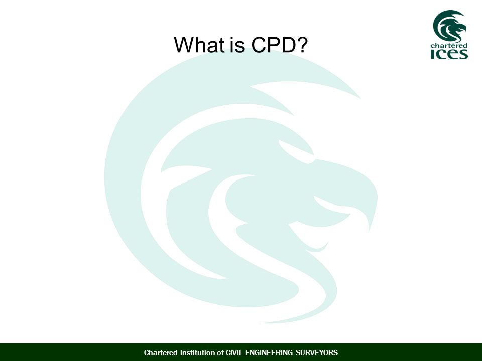 Chartered Institution of CIVIL ENGINEERING SURVEYORS What is CPD?