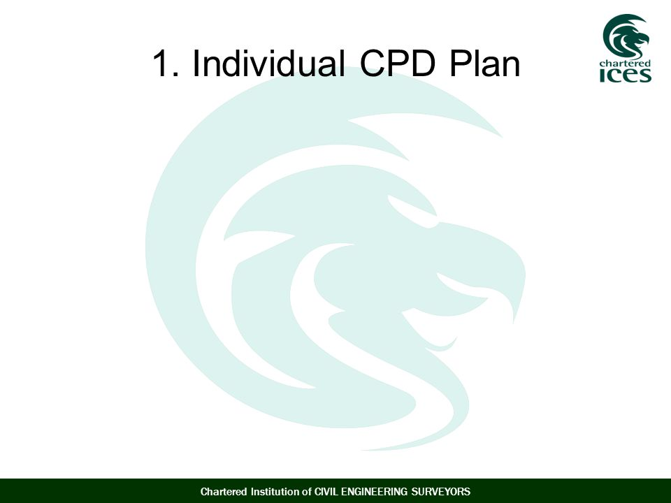 Chartered Institution of CIVIL ENGINEERING SURVEYORS 1. Individual CPD Plan