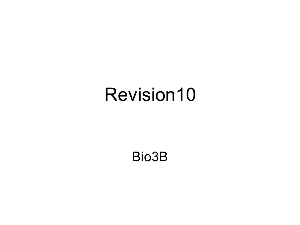 Revision10 Bio3B
