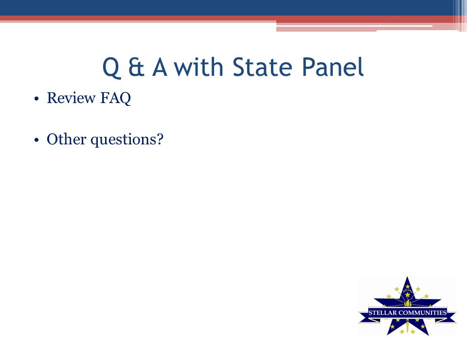 Q & A with State Panel Review FAQ Other questions