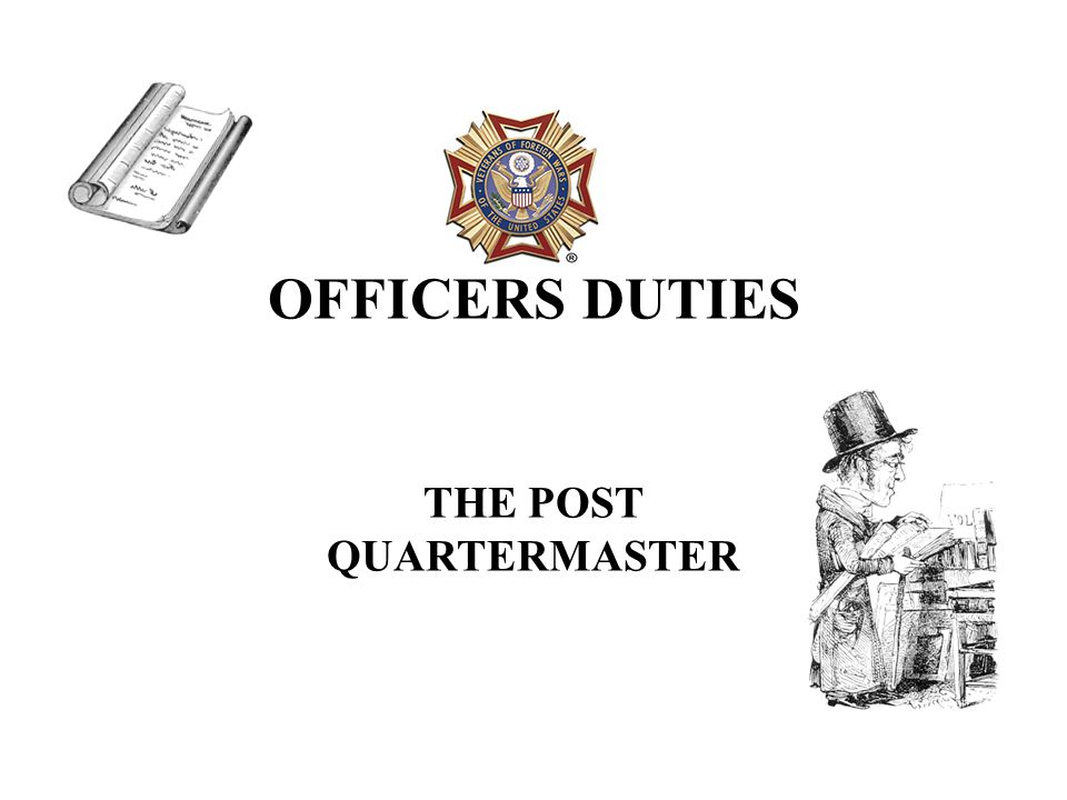 THE POST QUARTERMASTER IS ONE OF THE MOST IMPORTANT OFFICERS IN THE POST