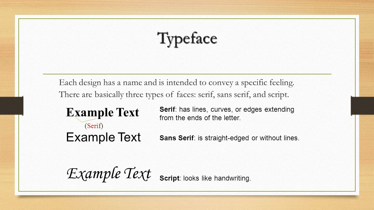 Font Definition: A font is a specific member of a typeface family such as roman, bold, or italic.