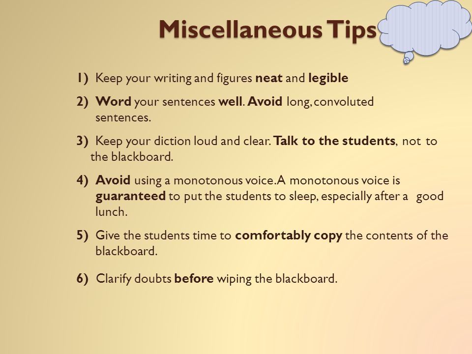 7) When starting a new subject, carefully study the prerequisites.