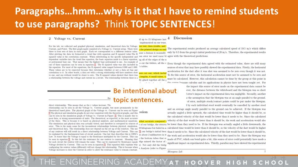 Paragraphs…hmm…why is it that I have to remind students to use paragraphs.