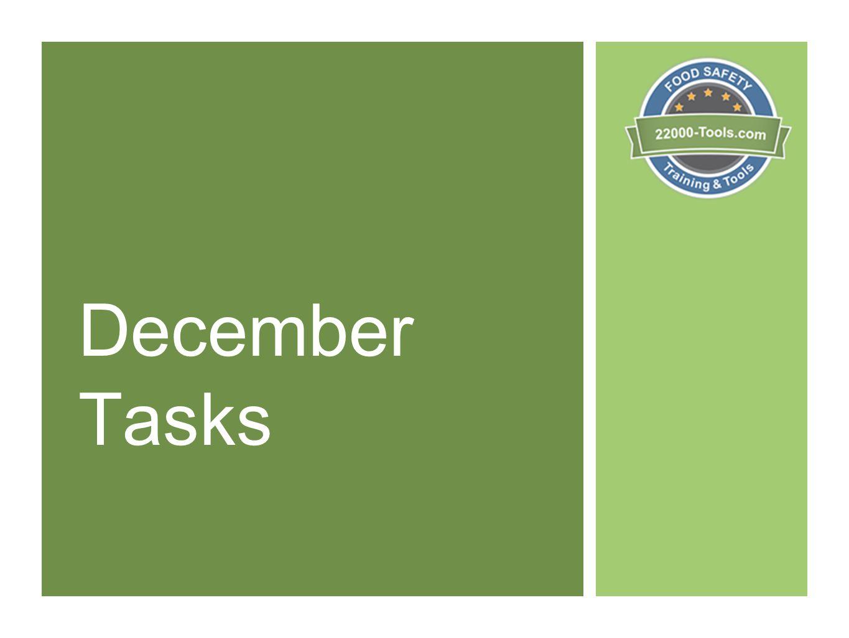 December Tasks