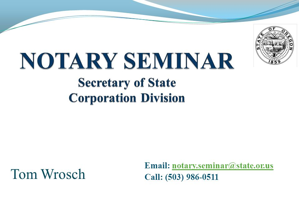 Agenda Applying for a Commission What is a Notary.